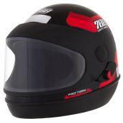 Capacete De Moto Sport Moto Preto/Vermelho