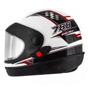 Capacete De Moto Super Sport Moto Branco/Vermelho