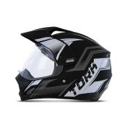 Capacete de moto TH-1 Vision New Adventure preto/grafite fosco - Motard