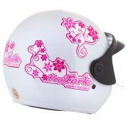 Capacete Feminino De Moto Liberty 3 Branco Girls