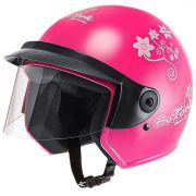 Capacete Feminino De Moto Liberty 3 Rosa Girls