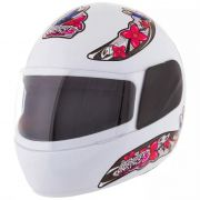 Capacete Feminino De Moto Liberty 4 Branco Girls