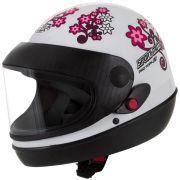 Capacete Feminino De Moto Sport Moto Branco For Girls