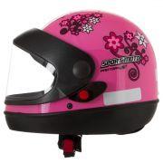 Capacete Feminino De Moto Sport Moto Rosa For Girls