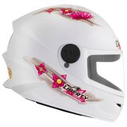 Capacete Infantil Liberty 4 Kids For Girls Branco