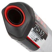 Escapamento Twister 2015 em diante Modelo V3 Aluminio Polido