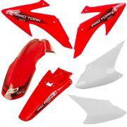 Kit Plastico CRF 230 08-14 Vermelho-Branco Pro Tork