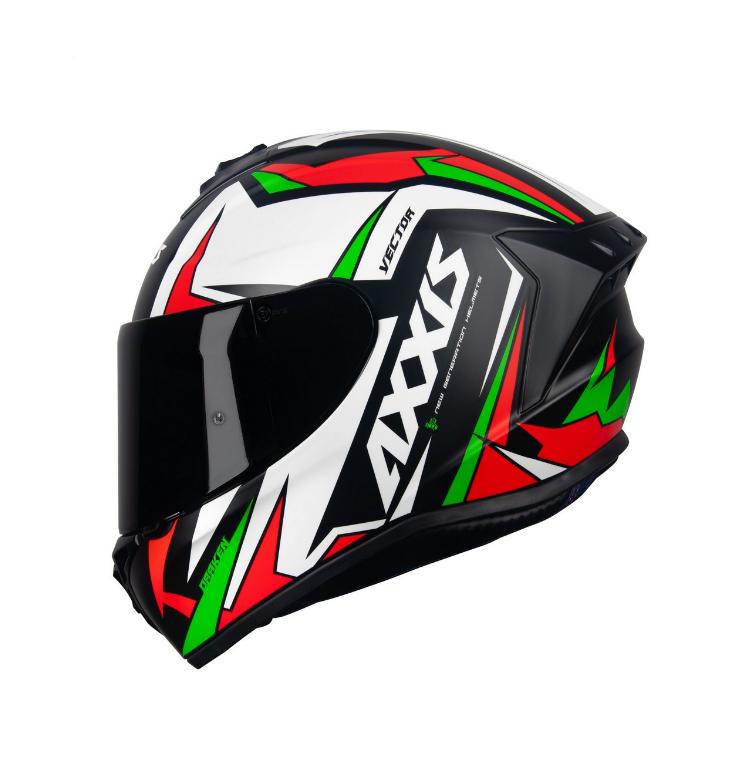 Capacete Axxis Draken Vector Matt (preto/branco/verde)