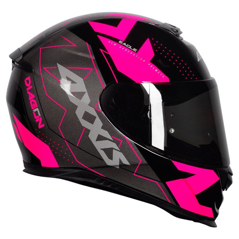 Capacete Axxis Eagle Diagon Black/Pink
