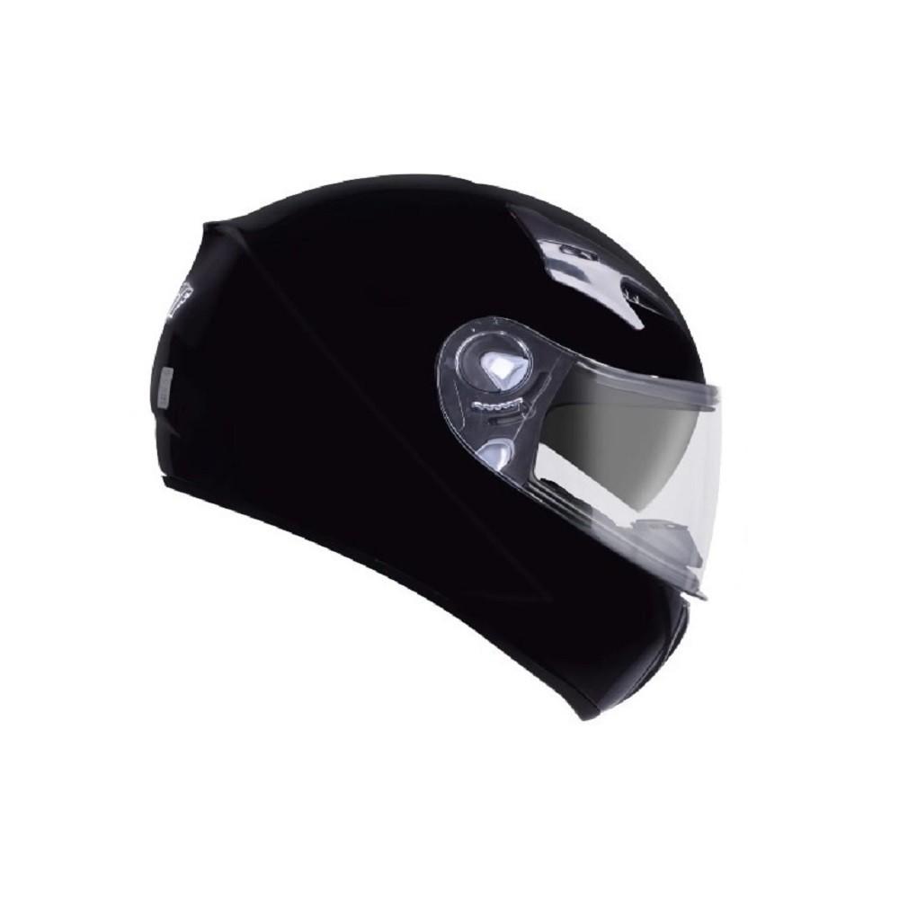 Capacete de moto EBF X Troy Solid preto brilhante