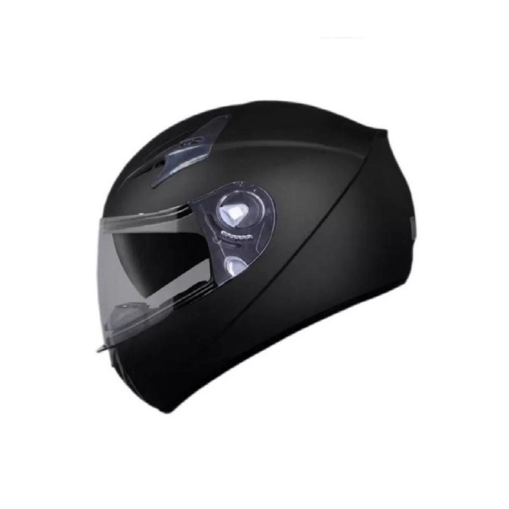 Capacete de moto EBF X Troy Solid preto fosco