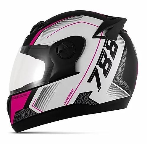 Capacete de moto Evolution 788 G6 Pro Séries rosa