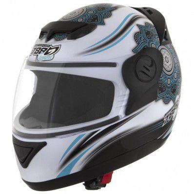 Capacete de moto Evolution G5 Femme branco/azul