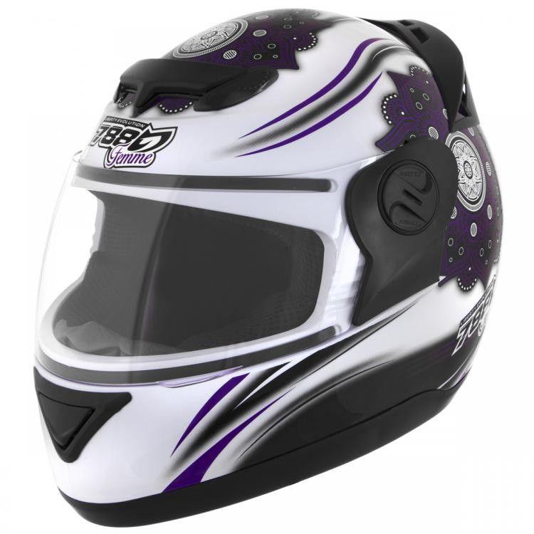 Capacete de moto Pro Tork Evolution G5 Femme branco/lilás