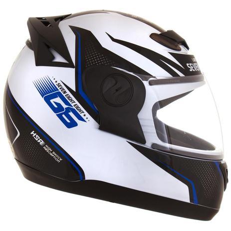 Capacete De Moto Evolution G6 788 Factory Edition Branco/Azul