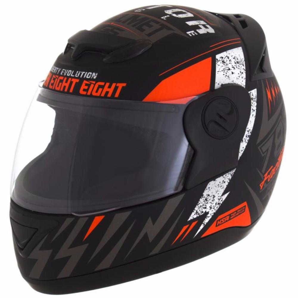 Capacete de moto Evolution G6 788 Factory Racing laranja