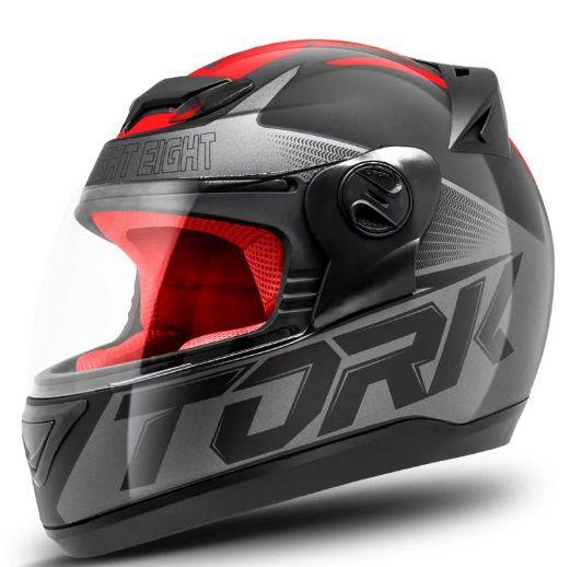Capacete de Moto Evolution G7 Preto/Vermelho
