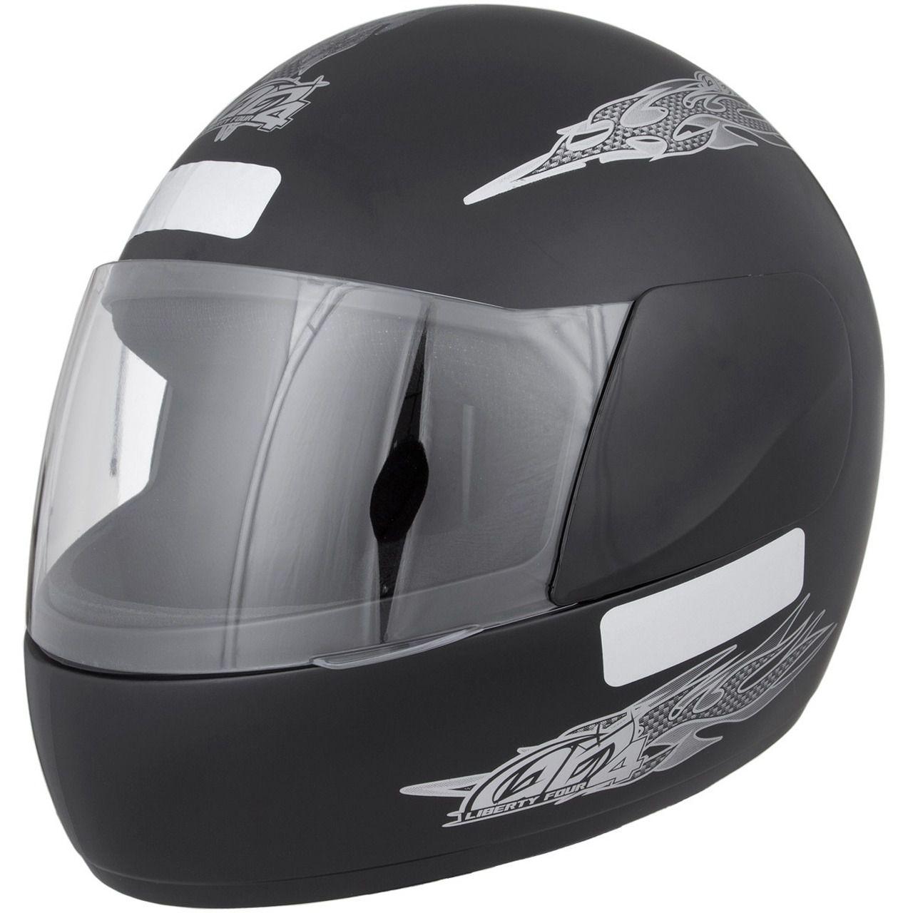 Capacete De Moto Liberty 4 Preto Fosco