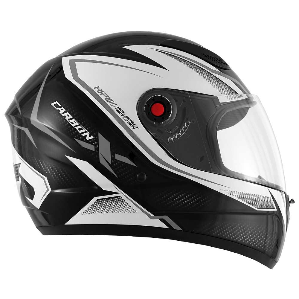 Capacete de Moto Mixs MX2 Carbon Preto brilhante Grafite