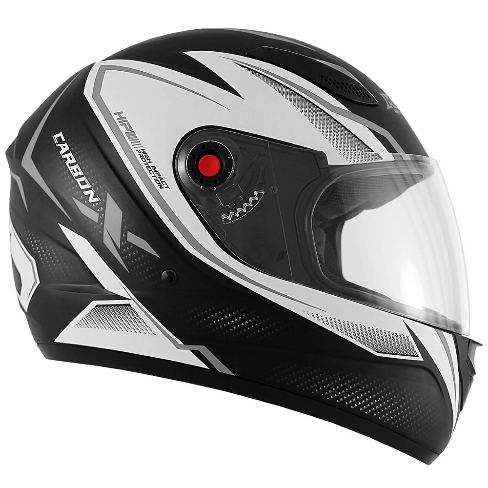 Capacete de Moto Mixs MX2 Carbon Preto Fosco Grafite
