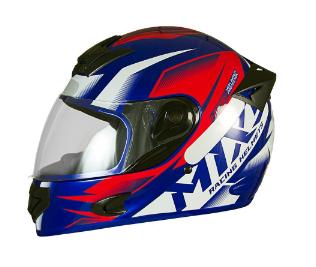 Capacete De Moto Mixs MX2 Storm Azul/Vermelho