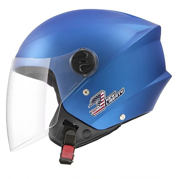 Capacete de moto New Liberty 3 Elite Azul Fosco