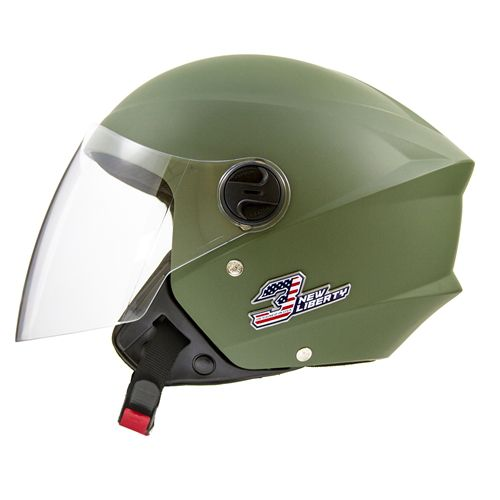 Capacete de moto Pro tork New Liberty 3 Elite verde fosco
