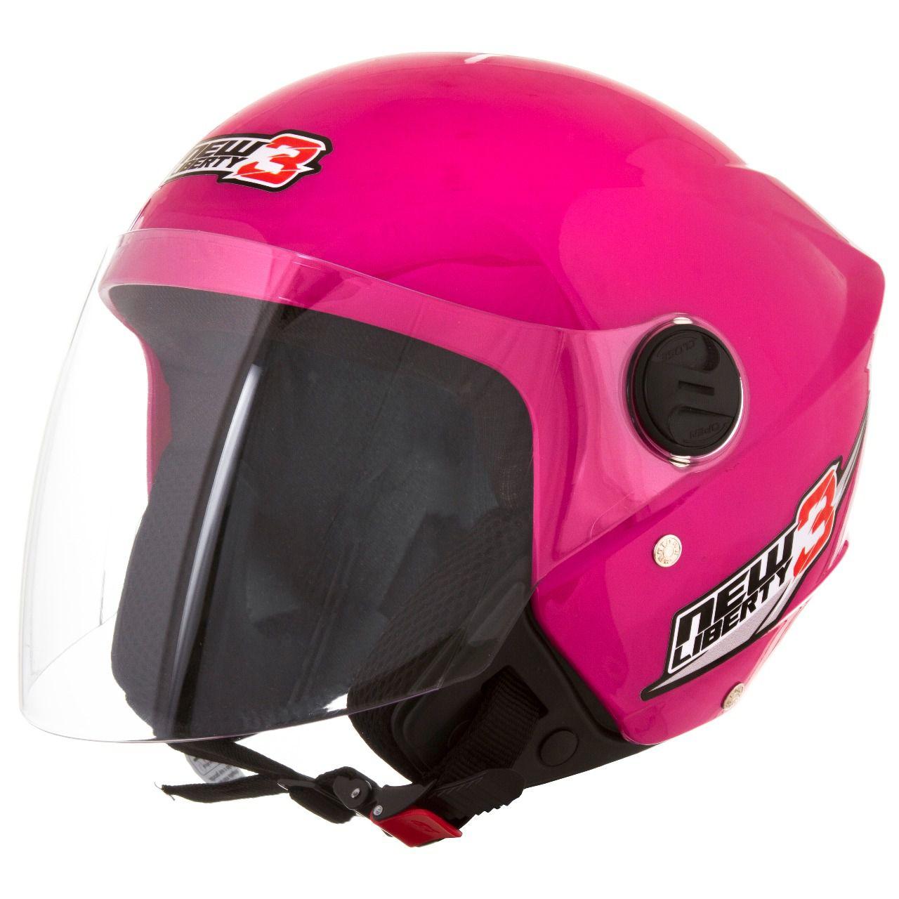 Capacete De Moto New Liberty 3 Rosa