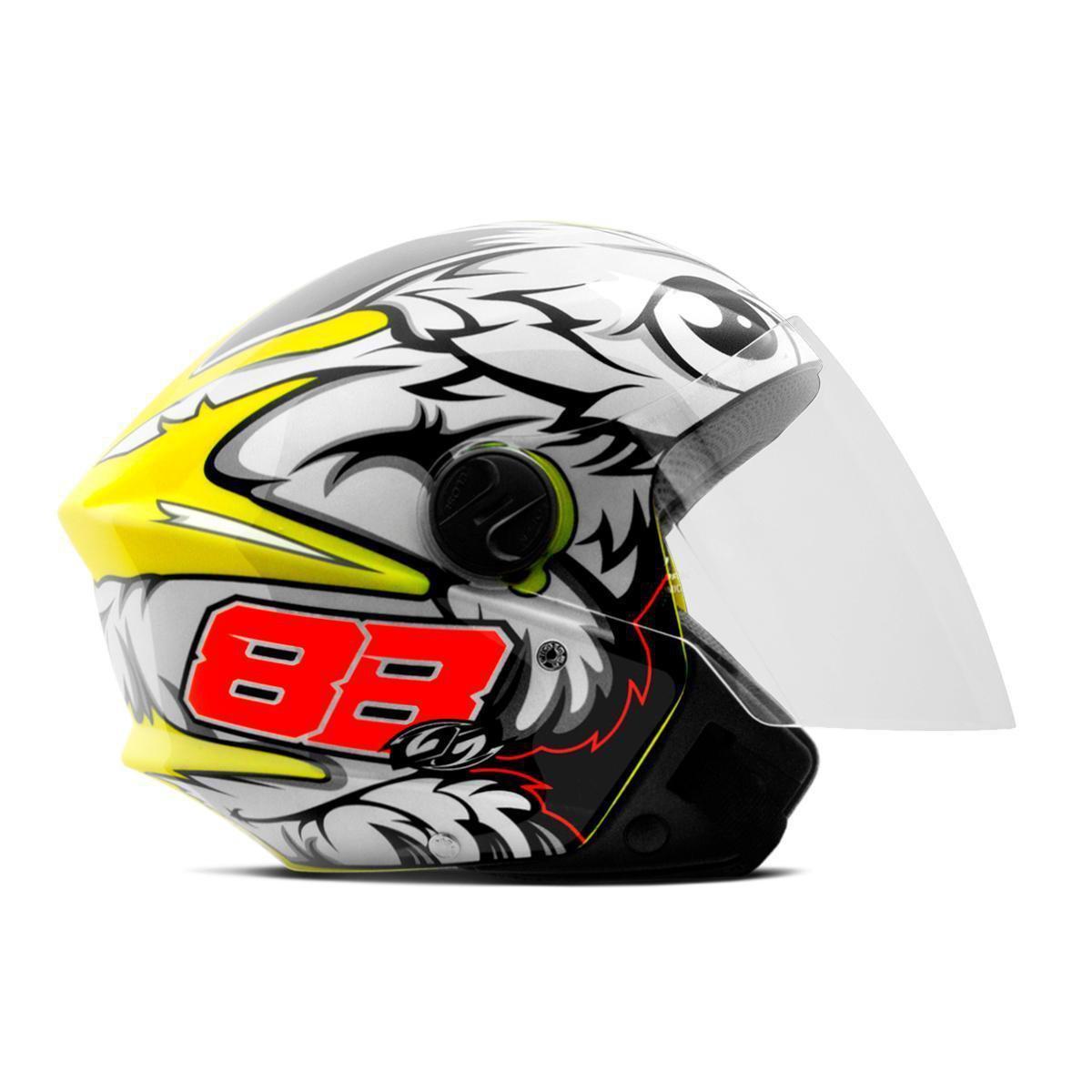 Capacete de moto Pro Tork New Liberty 3 GP 88 (amarelo brilhante)