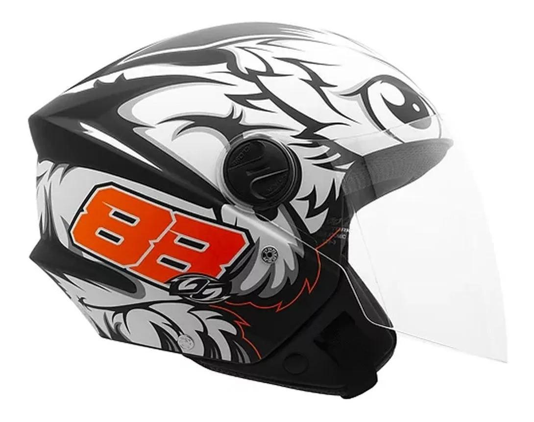 Capacete de moto Pro Tork New Liberty 3 GP 88 (preto fosco)