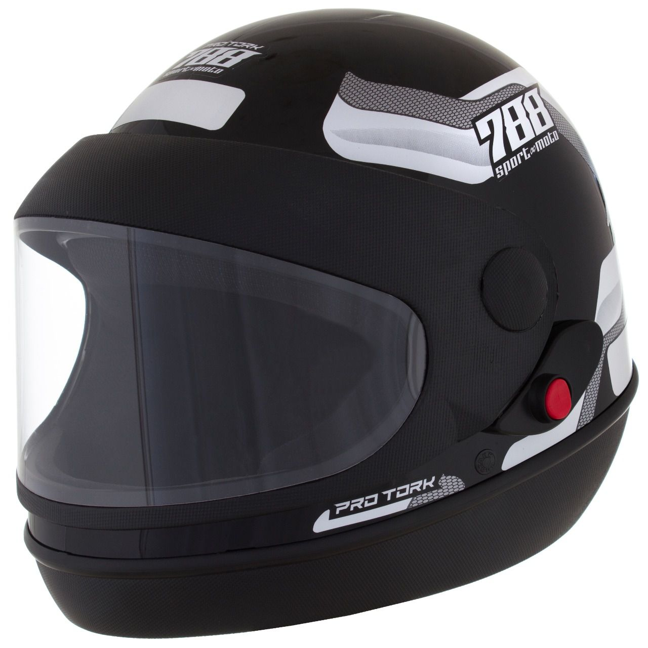 Capacete De Moto Sport Moto Preto/Branco