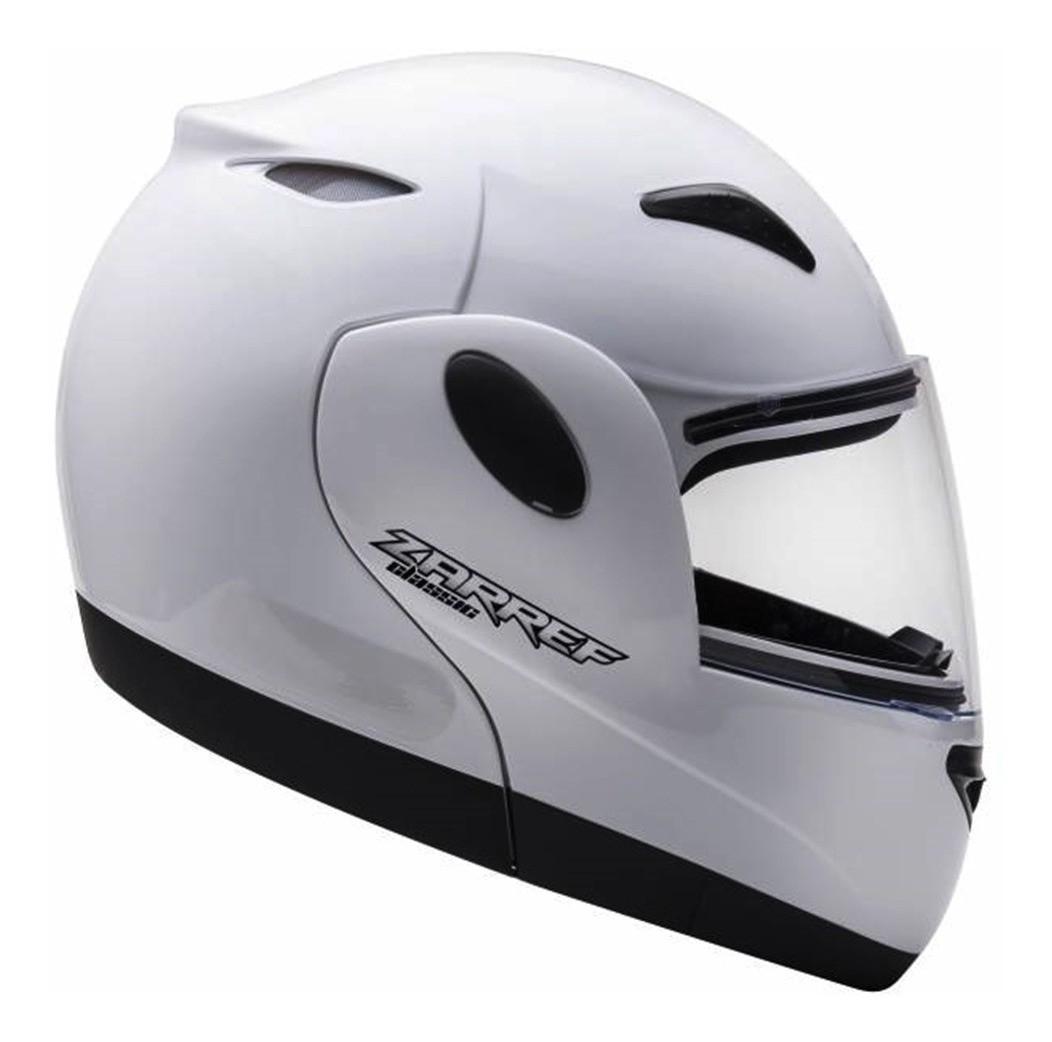 Capacete de moto Taurus Zarref V4 Classic branco escamoteável