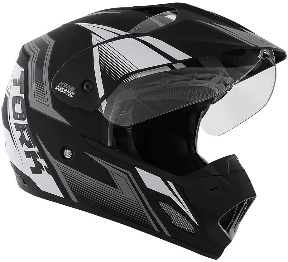 Capacete de moto TH-1 Vision New Adventure preto/grafite fosco - Motard