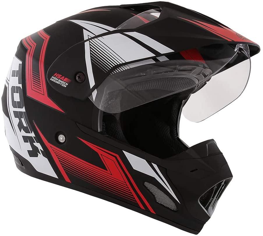 Capacete de moto TH-1 Vision New Adventure preto/vermelho fosco - Motard