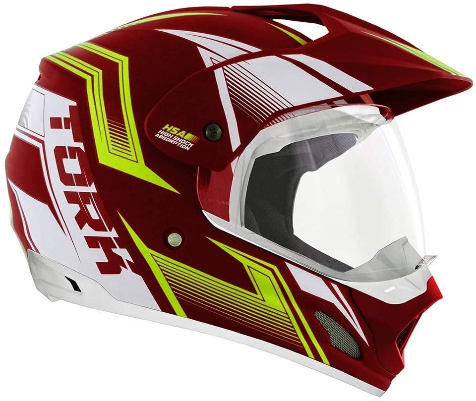 Capacete de moto TH-1 Vision New Adventure vermelho/amarelo fosco - Motard