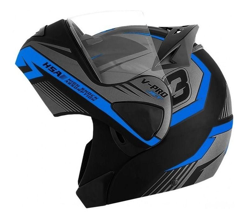 Capacete de moto Pro tork V-Pro Jet 3 azul