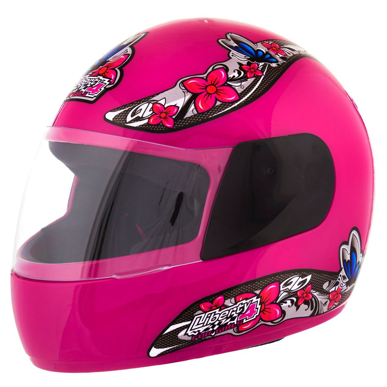 Capacete Feminino De Moto Liberty 4 Rosa Girls