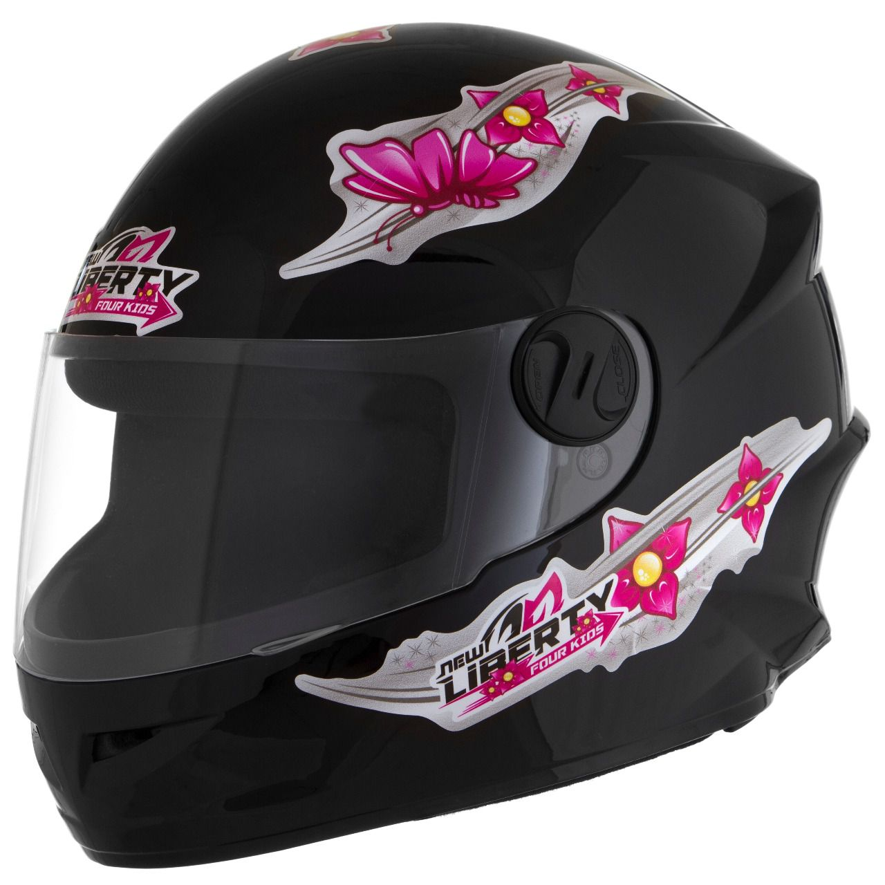 Capacete Infantil Liberty 4 Kids For Girls Preto