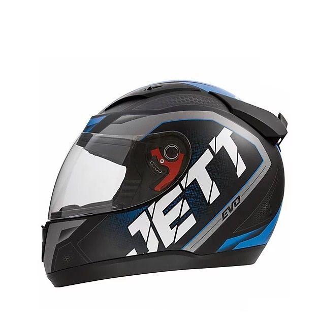 Capacete de moto Jett Evo Line (azul fosco)