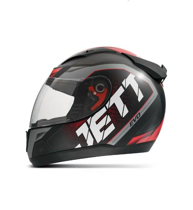 Capacete de moto Jett Evo Line (vermelho)