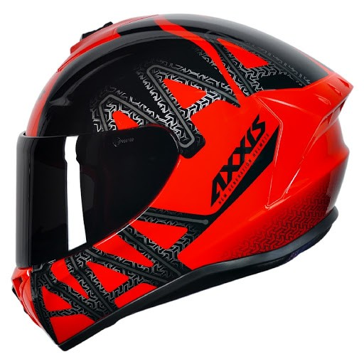 Capacete moto Axxis Draken Dekers Gloss red/black