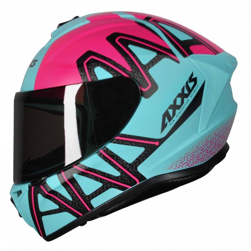 Capacete moto Axxis Draken Dekers Matt Tiffany/pink