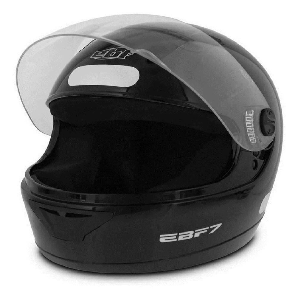 Capacete para moto EBF 7 Solid preto brilhante