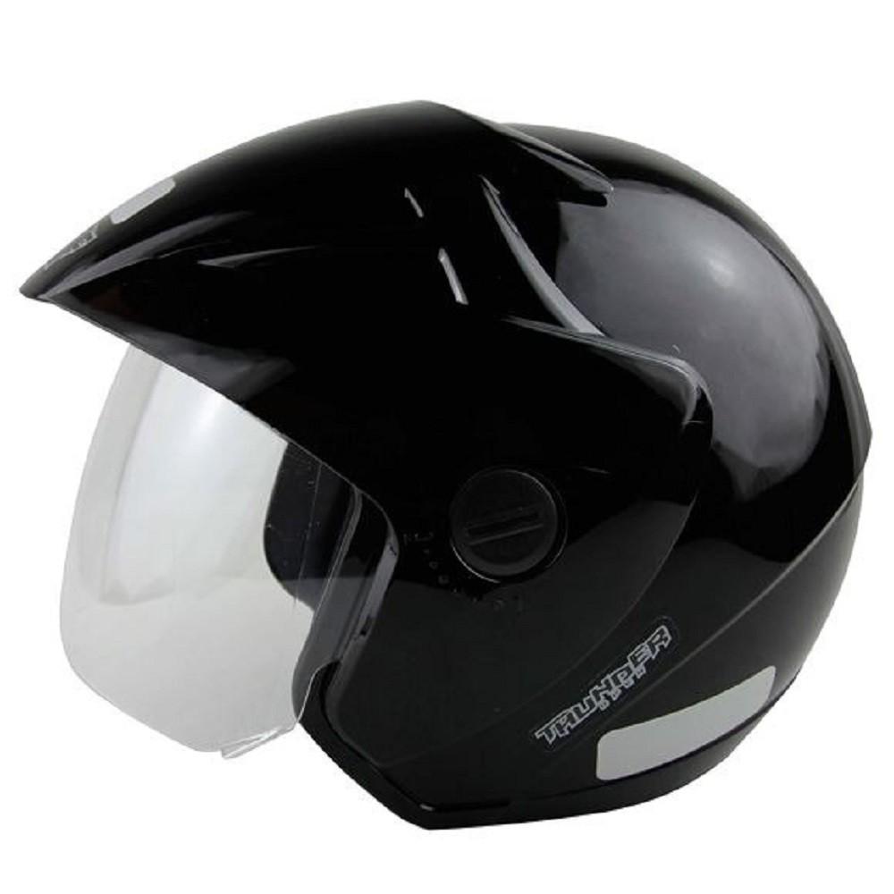 Capacete para moto EBF Thunder Open Solid preto