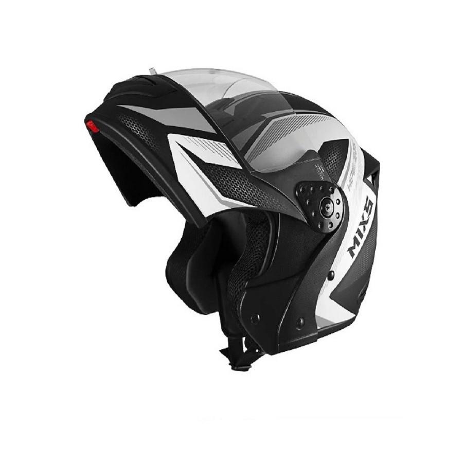 Capacete para moto Escamoteável Gladiator Storm preto fosco/grafite