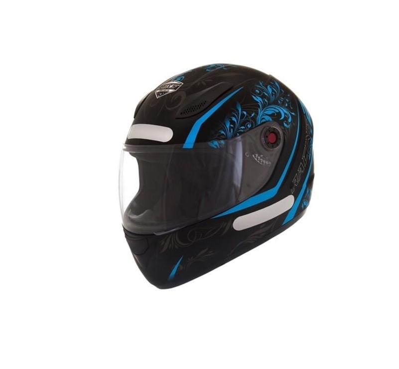 Capacete para moto feminino fechado Fokker Racing Girls 2 preto/azul