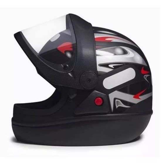 Capacete Para Moto Taurus San Marino Graffic Preto