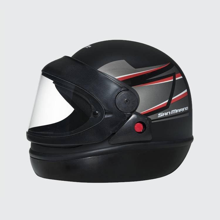Capacete de moto Taurus San Marino Tittanium preto fosco
