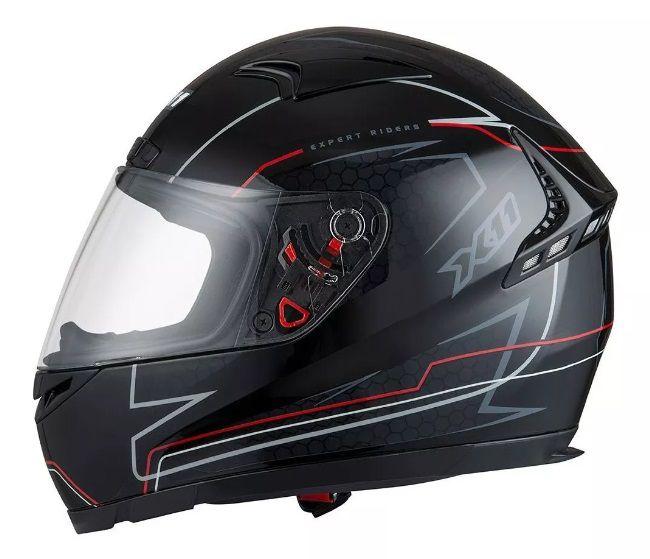 Capacete Para Moto X11 Volt Lines  Preto