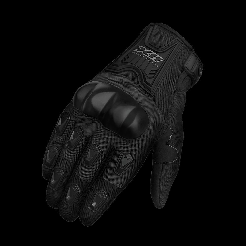 Luva moto X11 Blackout Verão com protetor feminina (preta)